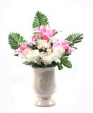 Flowers in vase isolated Royalty Free Stock Photos