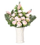 Flowers in vase isolated Royalty Free Stock Photo