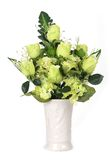 Flowers in vase isolated Stock Images