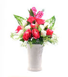 Flowers in vase isolated Royalty Free Stock Image