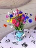 Wild Flowers in vase royalty free stock image