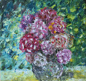 Flowers in a vase oil painting Stock Image