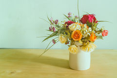 Flowers in vase Stock Photography
