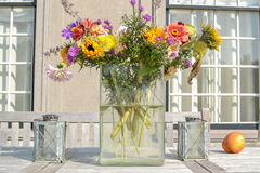 Flowers in a vase. Royalty Free Stock Photo