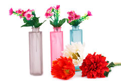Flowers in vases Stock Photography
