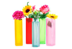 Flowers in vases Stock Image