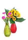 Flowers in vases Stock Image