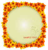 Flowers vector background Stock Images