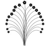 Flowers Vector. Black and White Flowers Stock Image