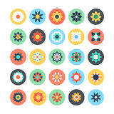 Flowers Vector Colored Icons 1 Stock Photography