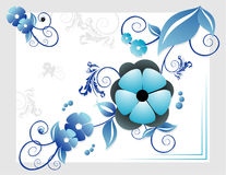 Flowers vector composition. Abstract flowers vector composition illustration over white background Stock Image