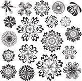 Flowers Vector Design Elements. Collection Stock Images