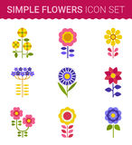 Flowers vector design. Set of floral icon Royalty Free Stock Image