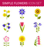 Flowers vector design. Set of floral icon Stock Image