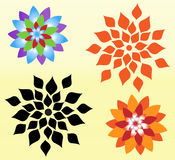 Flowers Vector. This is a flower background with bright color very good for improve mood Royalty Free Stock Photo