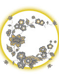Flowers. Vector illustration. Beautiful Asian style. Card Royalty Free Stock Photography
