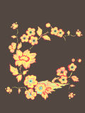Flowers. Vector illustration. Beautiful Asian style. Card Stock Photography