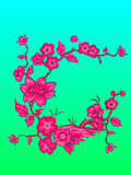 Flowers. Vector illustration. Beautiful Asian style. Card Stock Images