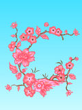 Flowers. Vector illustration. Beautiful Asian style. Card Royalty Free Stock Image