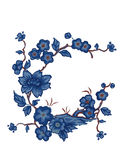 Flowers. Vector illustration. Beautiful Asian style. Card Stock Photo