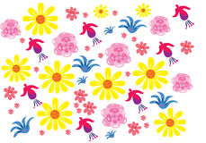 Flowers. A vector illustration of several generic flowers Royalty Free Stock Image