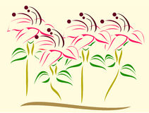 Flowers vector Stock Photography