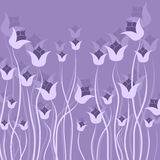 Flowers vector on purple background. Floral vector designs on laver background eps 10 Royalty Free Illustration
