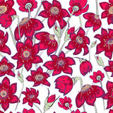 Flowers. Vector seamless pattern, abstract flowers Royalty Free Stock Images