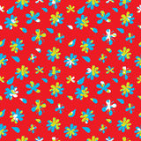 Flowers vector seamless pattern Stock Image