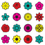 Flowers vector set, EPS10 Stock Photography