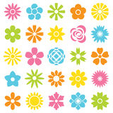 Flowers vector set. Flowers, vector, set,spring, ornament Royalty Free Stock Image