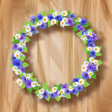 Flowers Vector Wreath Greeting Card Royalty Free Stock Photography