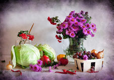 Flowers and vegetables Royalty Free Stock Photos