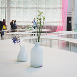 Flowers at Ventura Lambrate space during Milan Design week Royalty Free Stock Images