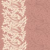 Flowers in vertical seamless pattern Royalty Free Stock Image