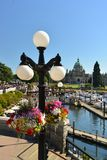 Flowers on Victoria's landmark waterfront, Victoria Stock Image