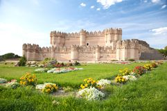 Flowers view of coca castle Royalty Free Stock Photo