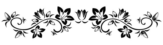 Flowers vignette. Vector illustration. Royalty Free Stock Image