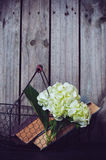 Flowers and vintage books Royalty Free Stock Photography