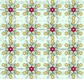 Flowers vintage pattern wallpaper Stock Images