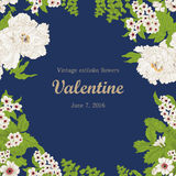 Flowers. Vintage. Vector illustration. Stylish card. Botany. Floral pattern. Stock Images