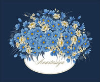 Flowers. Vintage. Vector illustration. Stylish card. Botany. Floral pattern. Stock Photos