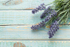Flowers on vintage wood Royalty Free Stock Images
