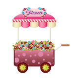 Flowers wagon Royalty Free Stock Photo