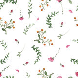 Flowers watercolor pattern Stock Photo