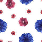 Flowers watercolor pattern Royalty Free Stock Photography