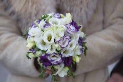 Flowers wedding. Beautiful fresh flowers wedding bouquet festive Royalty Free Stock Photo