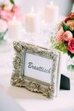 Flowers wedding bride groom. Decoration Royalty Free Stock Images