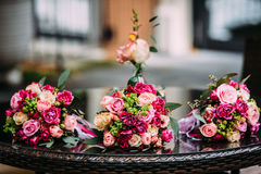 Flowers wedding bride groom. Decoration Royalty Free Stock Photos