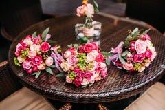 Flowers wedding bride groom. Decoration Stock Photography